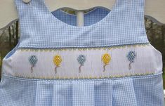 By popular request, here is the Baby Balloon Smocking design! Cute for boy or girl this summery design is simple enough for the beginning s...
