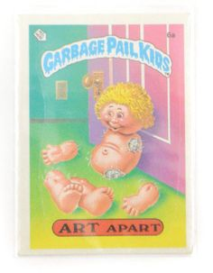 Vintage 80s Garbage Pail Kids Art Apart 6a Series 1 Glossy Sticker Trading Card by Dopedoll on Etsy https://www.etsy.com/listing/257515077/vintage-80s-garbage-pail-kids-art-apart