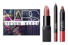 Nars A Woman's Face Nude Lip Set -  A Velvet Lip Liner in pinky-nude Patong Beach, a Sheer Lipstick in dusty-rose Dolce Vita, and a Velvet Matte Lip Pencil in Dolce Vita. #NARS