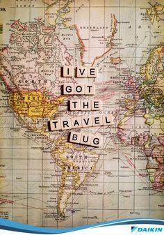 Para todos os viajantes de plantão #travel #world #map #DaikinValoriza