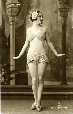 "1925 Mexican Stage Performer Lupe Velez ""Mexican Spitfire"" Real Photo Postcard"
