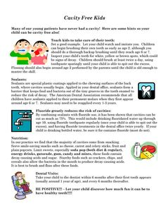 cavity free kids - Google Search