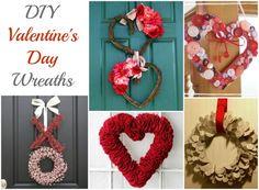 Valentine's Day Wreaths to make #DIY