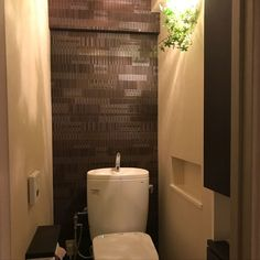 Bathroom/アクセントクロス/カフェ風/クッションフロア/フェイクグリーン/クロス...などのインテリア実例 - 2018-02-17 13:34:24 | RoomClip (ルームクリップ)
