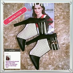 ***Host Pic***New Edgy Ankle Boots Beautiful black and white ankle boots 3 inch heels. Perforated squares to allow air. These boots can be worn at any time of the year. Shoes Ankle Boots & Booties