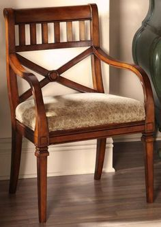 I'm looking for a wooden chair with personality, quality construction, some life and stories left in it!