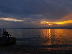 Sunset on Bardolino, italy by d0minius, via Flickr