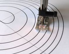 Stay on the Lines! Free printable spiral to practice sewing curves (without thread in the machine)