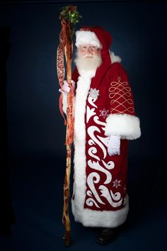 too much on this suit for my tastes...takes away from Santa IMO, I do like the embroidery on the sleeves