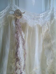 altered lace camisole