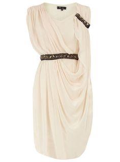 Cream Grecian Gown