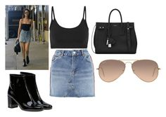 """""""Bella h inspired look"""" by loverrrrr on Polyvore featuring Givenchy, Helmut Lang, Topshop, Yves Saint Laurent and Ray-Ban"""
