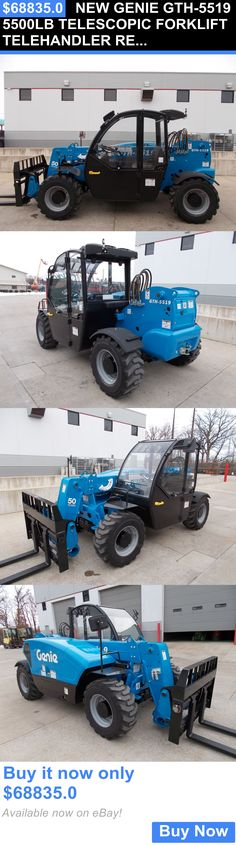 heavy equipment: New Genie Gth-5519 5500Lb Telescopic Forklift Telehandler Reach Forklift Compact BUY IT NOW ONLY: $68835.0
