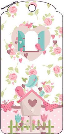 Tag Agradecimento Jardim Encantado Provençal Bookmarks For Books, Diy And Crafts, Paper Crafts, Bird Party, Freebies, Card Sentiments, Decoupage Vintage, Journal Cards, Happy Planner
