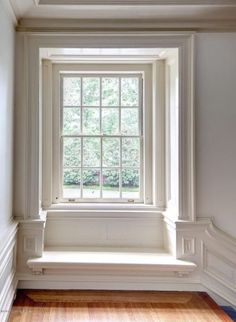 Recessed window w fabulous architectural detail and moldings