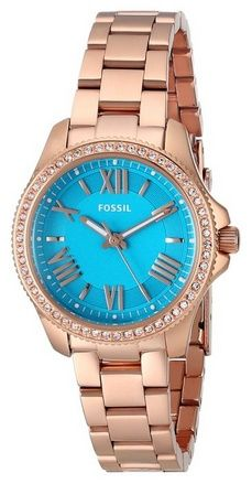 Fossil Women's Cecile Small Three-Hand Stainless Steel Watch - Rose Gold-Tone with Turq Dial Fossil Watches For Men, Rose Gold Watches, Small Rose, Everyday Items, Beautiful Watches, Stainless Steel Watch, Fashion Watches, Quartz, Display