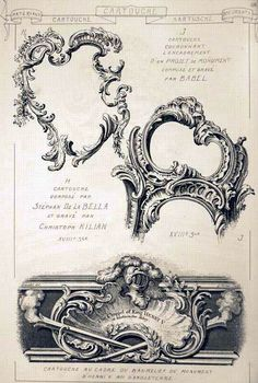rococo architectural detail - French and Italian -the cartouche