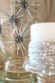 My sister in law always has a beautiful table arrangement for Christmas and I wanted to try to copy her sweet gum balls decorations.  Her mo...