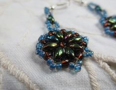 Ladies dangle earrings made from seed by Somethingissparkling, $15.00