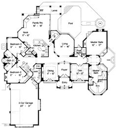 Plan Number: BHG-4128  Stories: 1  Total Living Area: 3430 Sq. Ft.  First Floor: 3064 Sq. Ft.  Bonus: 366 Sq. Ft.  Bedrooms: 4  Full Baths: 4  Width: 79 Ft. 6 In.  Depth: 91 Ft.   Foundation:  Slab (Standard)    Price: $790.00 (FIVE SETS OF BONDPRINTS)