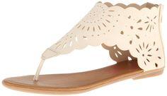Jellypop Women's Salinas Gladiator Sandal,Bone,5 M US.