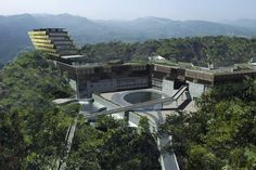 Lang-jiu Whisky Headquarters, Hotel and Conference Centre at Erlang, Sechwan Province, China