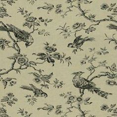 Toile with bird pattern