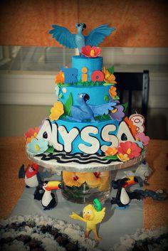 Rio cake my little one would LOVE this! Rio Birthday Parties, 2 Birthday Cake, Birthday Ideas, Carnival Birthday, Cupcakes, Cupcake Cakes, Beautiful Cakes, Amazing Cakes, Rio Cake