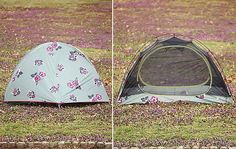 "Alite x Free People Tent: ""No utilitarian tent for you — this wildflower-inspired tent — a collaboration between Alite and Free People — both blends into your environment and stands out as the most fashionable tent on the campsite."" via @POPSUGAR Fitness"
