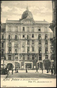 Ansichtskarten Online: Wien, VI, Mariahilferstrasse 99 Vintage Architecture, Historical Architecture, Upload Pictures, Old Pictures, Monuments, Barbary Coast, Vienna Austria, Girls Best Friend, Louvre