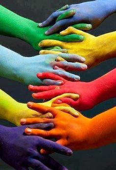 Do you suppose there would be no racism if we were rainbow colored!!