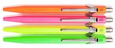 Neon pens... no one would dare steal these from me at work!
