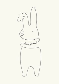 Love Yourself - Bunny Art Print