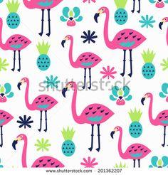 Flamingo seamless pattern. Vector illustration.