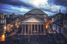 The Pantheon at night~ Rupa Sutton Photography