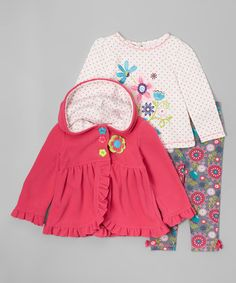 Another great find on #zulily! Pink Ruffle Swing Coat Set - Infant & Toddler #zulilyfinds