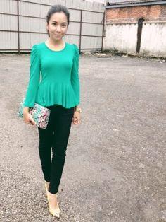 Green peplum