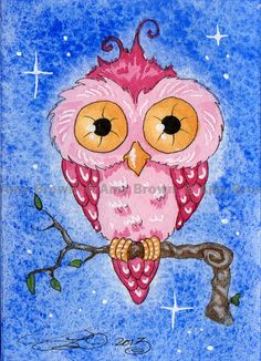 'Pink Owl' by Amy Brown