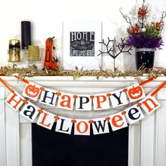 Halloween Banner Halloween Decoration Garland Sign Fall Party  http://shopstyle.it/l/leOD  #affiliate