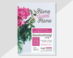 Host your housewarming party with these personalized PRINTABLE invitations! With a rustic modern charm, these digital invitations are super adorable and made to order. Available via Etsy at DiamariDesigns Digital Invitations, Printable Invitations, Custom Invitations, Housewarming Party Invitations, Text Layout, Printable Designs, Rustic Modern, Home Decor Styles, Invitation Design