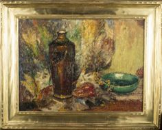 C. L. Nichols (American, 20th Century)   Capo Auction   Lot 36   Floral Still Life. Oil on board. Signed (l.r.). Board size 12 x 16 inches. Framed.