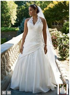 Lace halter wedding dresses | ... Lace Halter A-Line with Side Drape Style 9V3194