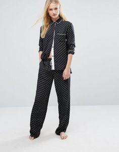Атласная пижама DKNY
