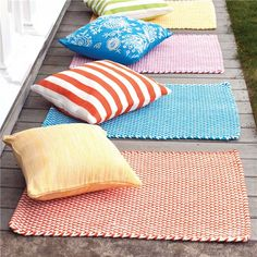 Dash & Albert Two-Tone Rope Tangerine and White Indoor/Outdoor Rug Unique Furniture, Home Furniture, Boy And Girl Shared Room, Picnic Blanket, Outdoor Blanket, Dash And Albert, Braided Rugs, Indoor Outdoor Rugs, Interior Design Services