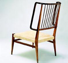 Luigi Caccia Dominioni; Unique Chair for a Private House in Bergamo, 1941.