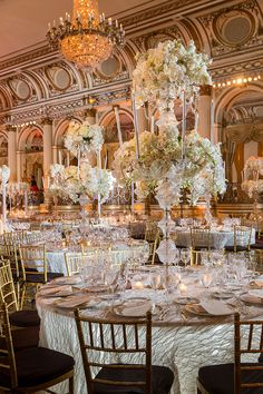 Step into a glamorous wedding in New York City that blends old world classic glamour with modern day refinement and elegance for a fairytale day.