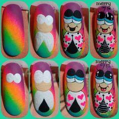 Nail Designs, Nail Art, Nails, Margarita, Crochet, French, Pretty Nails, Creativity, Nail Art Designs