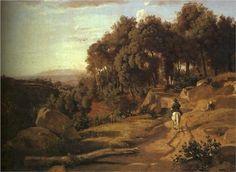 A View near Colterra - Camille Corot