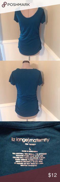 Maternity t-shirt Liz Lange Maternity for Target t-shirt. Deep teal color Liz Lange for Target Tops