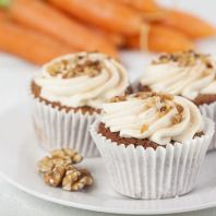 Truly Treats - Carrot & Walnut Cupcakes. Made with Gluten-Free ingredients